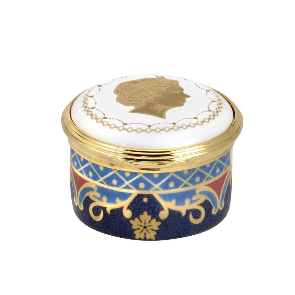 Royal Worcester Coronation Anniversary Round Box